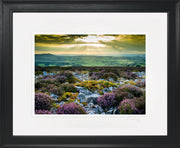 Stiperstones Sunset Print by Lindsey Bucknor Black Frame