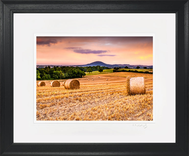 Wrekin Sunset Print by Lindsey Bucknor Black Frame