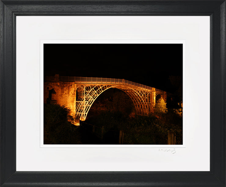 Ironbridge at Night Print by Lindsey Bucknor Black Frame