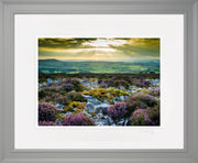 Stiperstones Sunset Print by Lindsey Bucknor Grey Frame