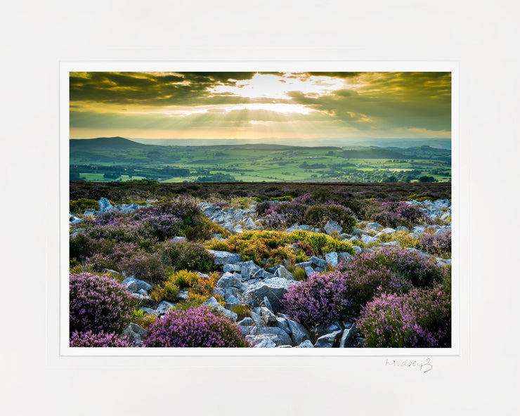 Stiperstones Sunset Print by Lindsey Bucknor Mounted