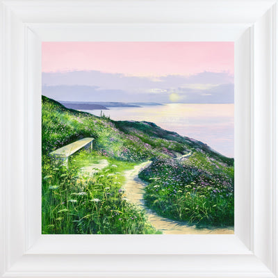Sunset Seat limited edition framed print by Heather Howe