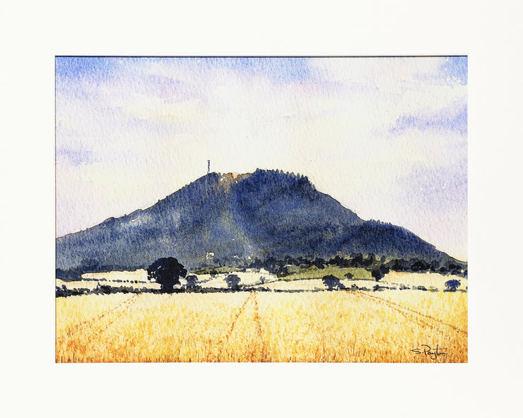The Wrekin Shropshire Print by Sue Payton Mounted