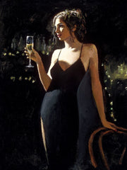 Tiffany with Champagne limited edition print by Fabian Perez