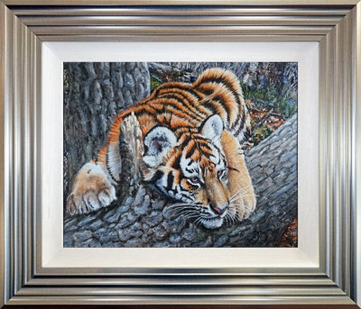 Tiggered Out original painting by Sue Payton