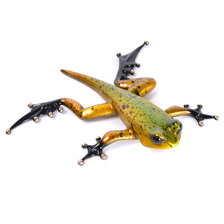 Froglet Bronze Sculpture by Tim Cotterill Frogman Wall Hanging