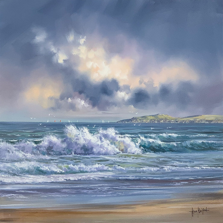 Tumbling Waves original painting by Allan Morgan
