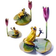 Water Lily Bronze Sculpture by Tim Cotterill Frogman Limited Edition