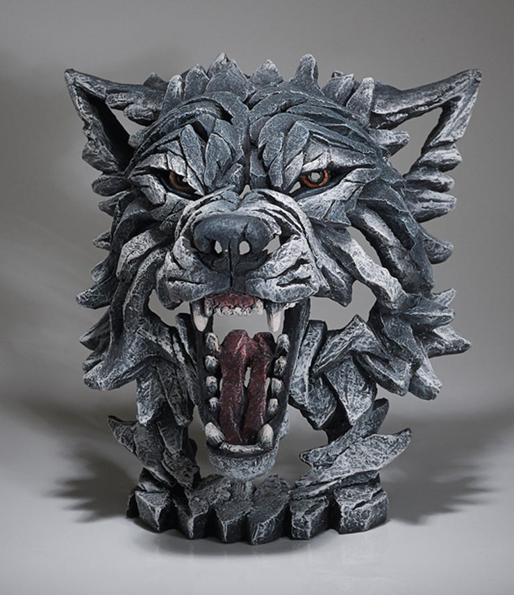 Wolf Bust - Grey by Edge Sculpture