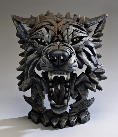 Wolf Bust - Timber by Edge Sculpture