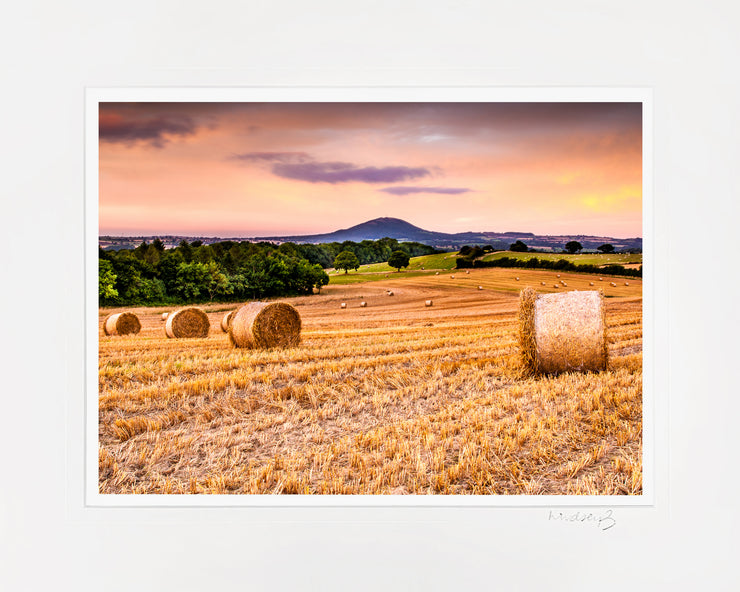 Wrekin Sunset Print by Lindsey Bucknor Mounted