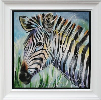 Zebra limited edition print by Susan B Leigh