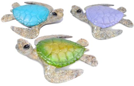 Keiki Bronze Sea Turtles Sculpture by Chris Barela Multiple Colours
