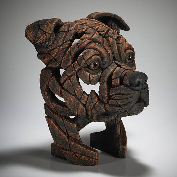 Staffordshire Bull Terrier Bust Brindle from Edge Sculpture