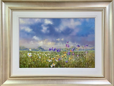 Flower Festival original painting by Allan Morgan