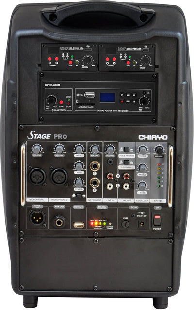 Stage Pro Portable PA System with EMic & Mini Transmitter