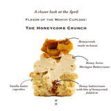 The April 2021 Flavour of the Month Cupcake: The Honeycomb Crunch
