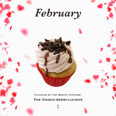 The February 2020 Flavor of the Month Cupcake: The Choco-berri-licious