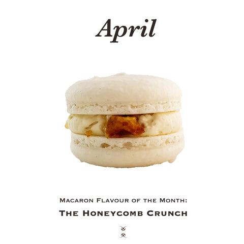 The April 2021 Flavour of the Month Macaron: The Honeycomb Crunch