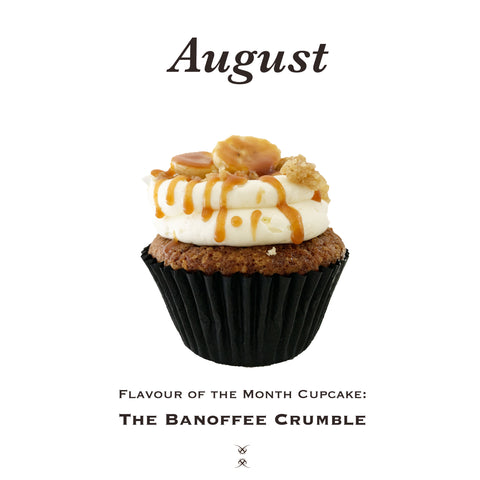 The August 2020 Flavor of the Month Cupcake: The Banoffee Crumble