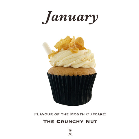 The January 2021 Flavor of the Month Cupcake: The Crunchy Nut