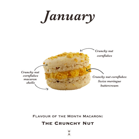 The January 2021 Flavour of the Month Macaron: The Crunchy Nut