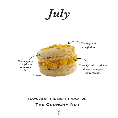 The July 2020 Flavour of the Month Macaron: The Crunchy Nut