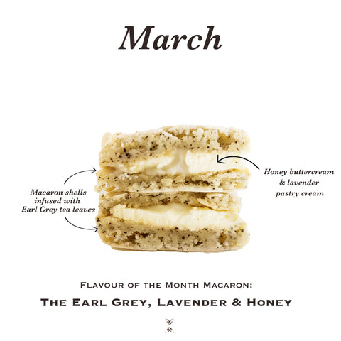 The March 2021 Flavour of the Month Macaron: The Earl Grey, Lavender & Honey