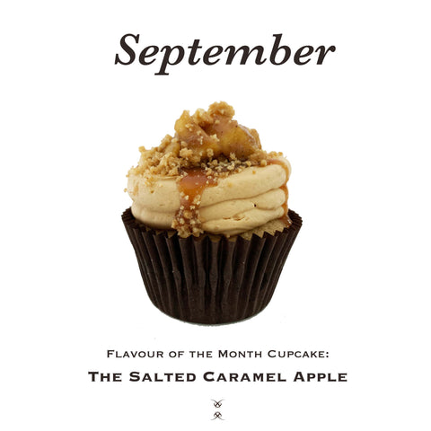 The September 2020 Flavor of the Month Cupcake: The Salted Caramel Apple