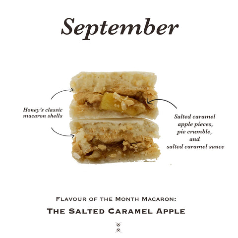 The September 2020 Flavour of the Month Macaron: The Salted Caramel Apple