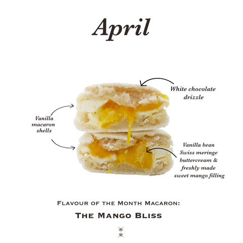 April 2019 Flavour of the Month Macaron: The Mango Bliss