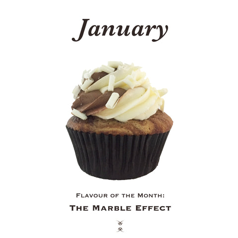 January 2019 Flavour of the Month: The Marble Effect Cupcake