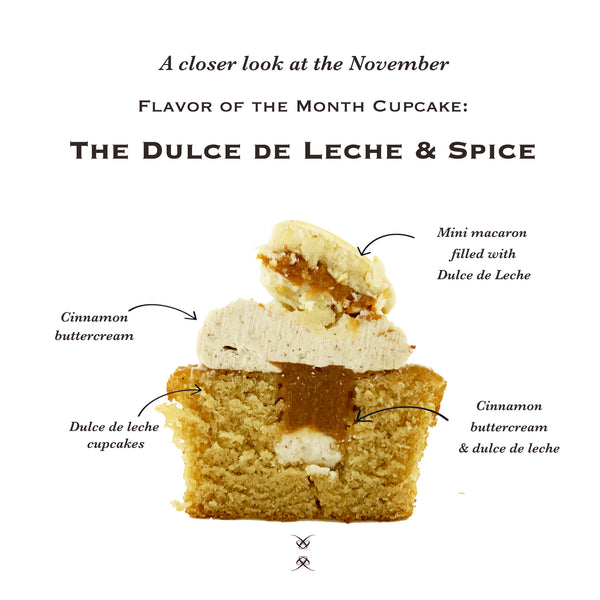 November 2020 Flavor of the Month Cupcake: The Dulce de Leche & Spice