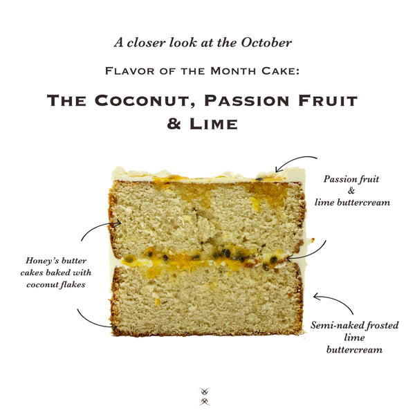 The October 2020 Flavor of the Month Cake: The Coconut, Passion Fruit & Lime