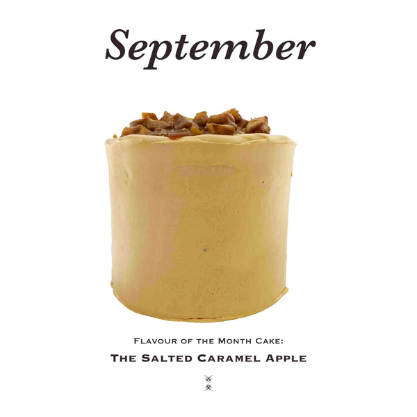 The September 2020 Flavour of the Month Cake: The Salted Caramel Apple