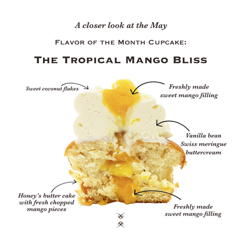 The May 2021 Flavour of the Month Cupcake: The Mango Bliss