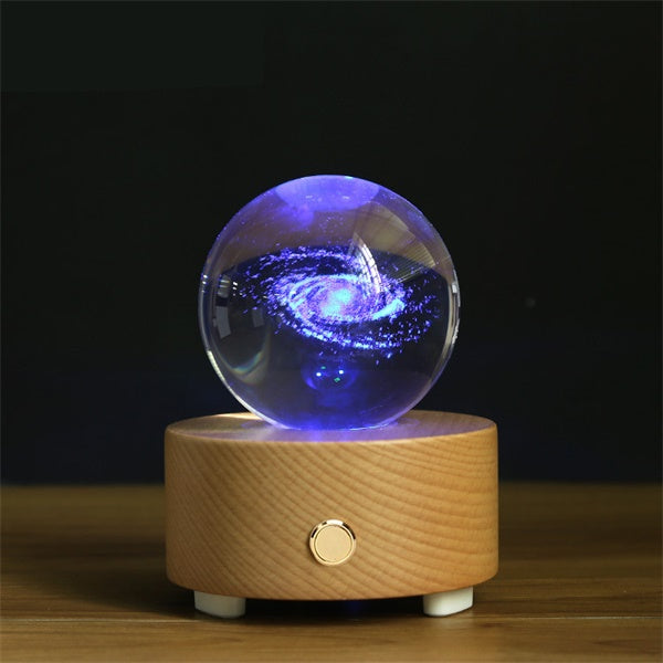 Galaxy Crystal Ball Bluetooth Music Box