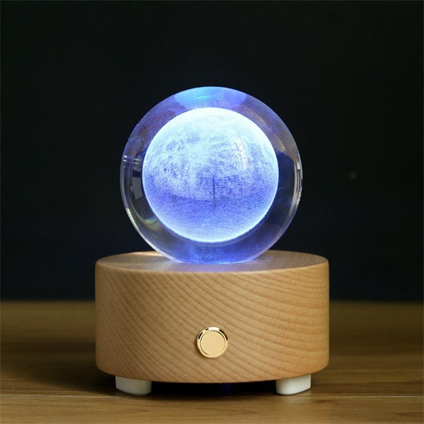 Moon Crystal Ball Bluetooth Music Box