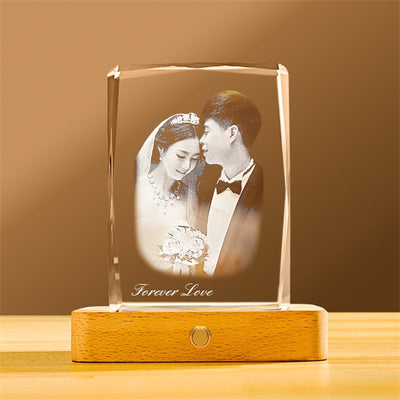 Personalized Photo Crystal Night Light | Customized Gifts
