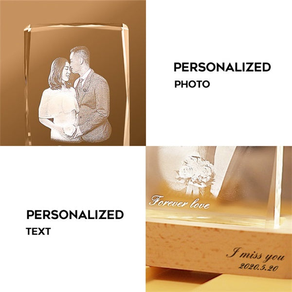 Personalized Photo Crystal Night Light