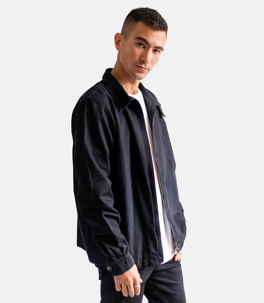 Aviator Denim Jackets - Negro