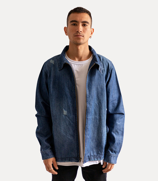 Aviator Denim Jackets - Azul