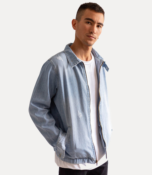Aviator Denim Jackets - Celeste
