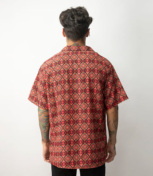 Quimera Vintage Silk Shirts - Rojo Damasco