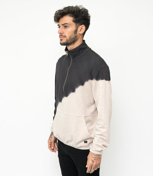 Dip Dye Zipped Terry - Beige