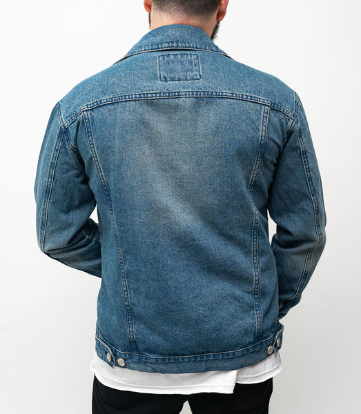 Oversized Denim Jacket - Acero