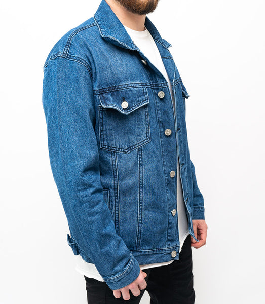 Oversized Denim Jacket - Azul