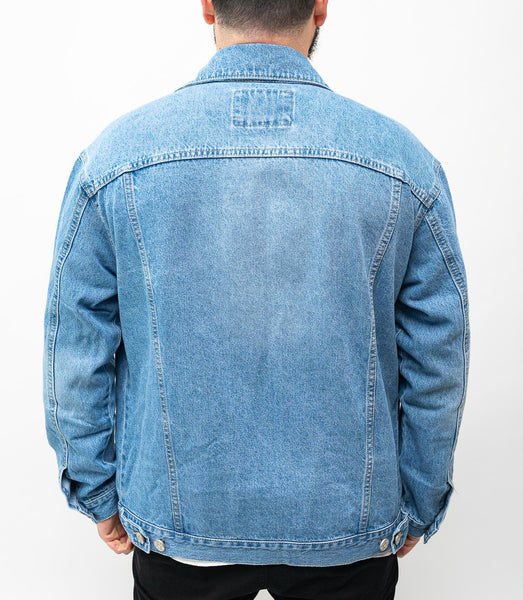 Oversized Denim Jacket - Celeste