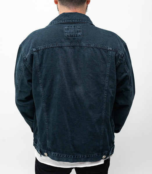Oversized Denim Jacket - Negra