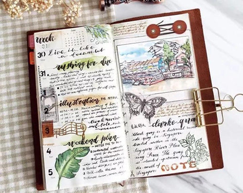 Bullet Journal Ideas - How to Use Watercolour Paper in Your Bullet Journal